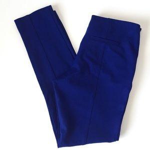 INC royal blue seamed skinny pants